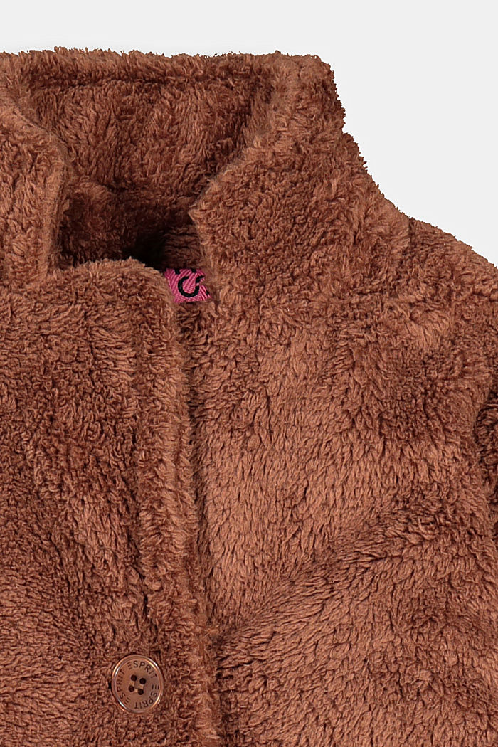 Kuschelweicher Webfell-Mantel, DARK BROWN, detail image number 2