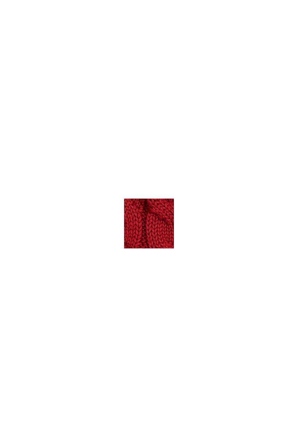 Strickmütze mit Fleece-Futter, RED, swatch