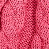 Scarf with cable knit pattern and pompoms, PINK, swatch