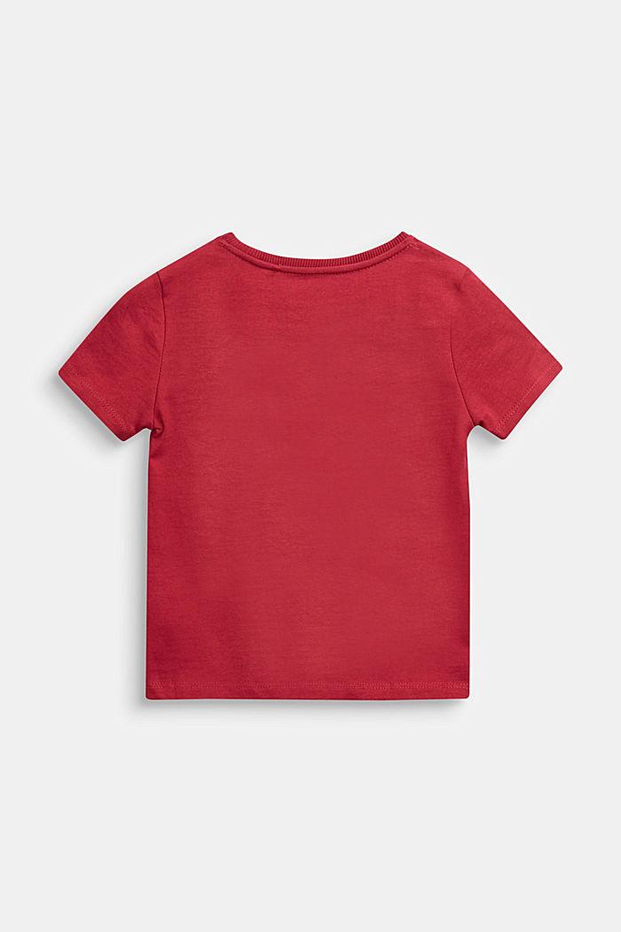 Logo T-shirt, 100% cotton, DARK RED, detail image number 1
