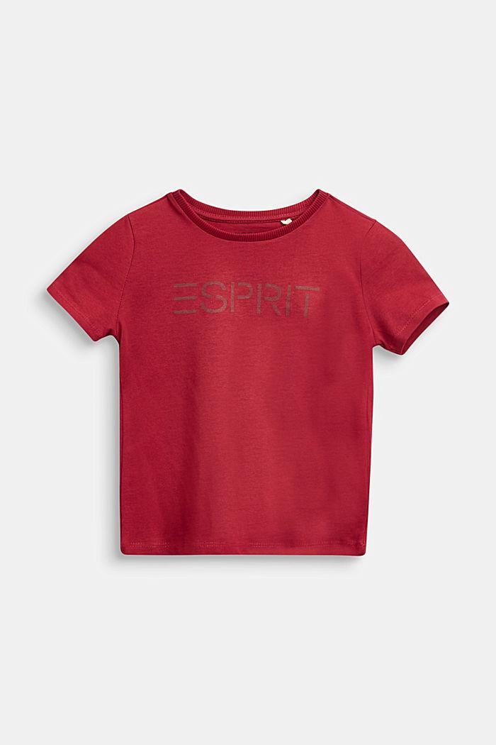 Logo T-shirt, 100% cotton, DARK RED, detail image number 0