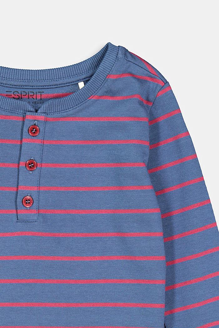 Longsleeve mit Streifen, 100% Baumwolle, BLUE, detail image number 2
