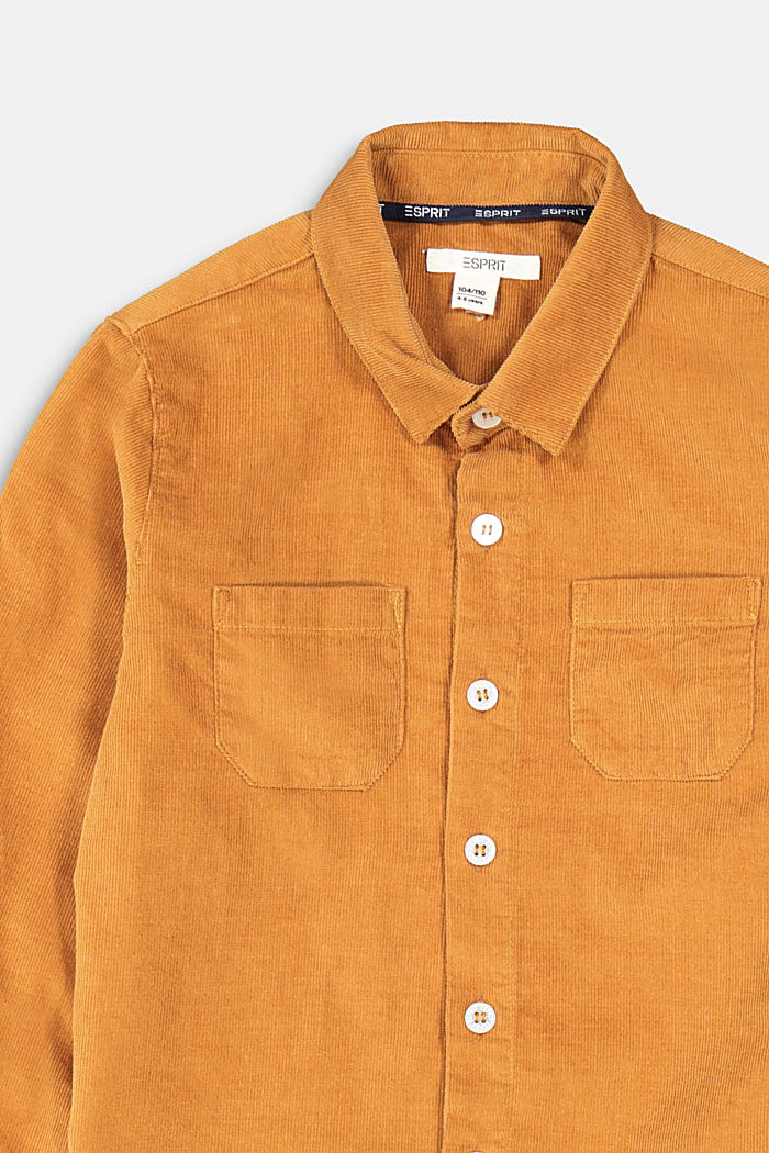 Corduroy shirt made of 100% cotton, CAMEL, detail image number 2