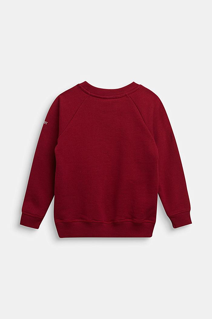 Basic sweatshirt made of 100% cotton, DARK RED, detail image number 1