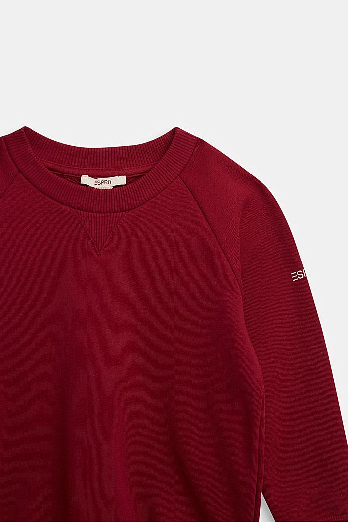Basic sweatshirt made of 100% cotton, DARK RED, detail image number 2