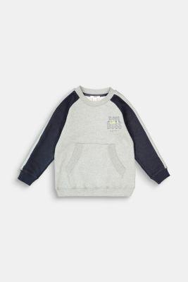Sweatshirt with a print, 100% cotton, DARK GREY, detail