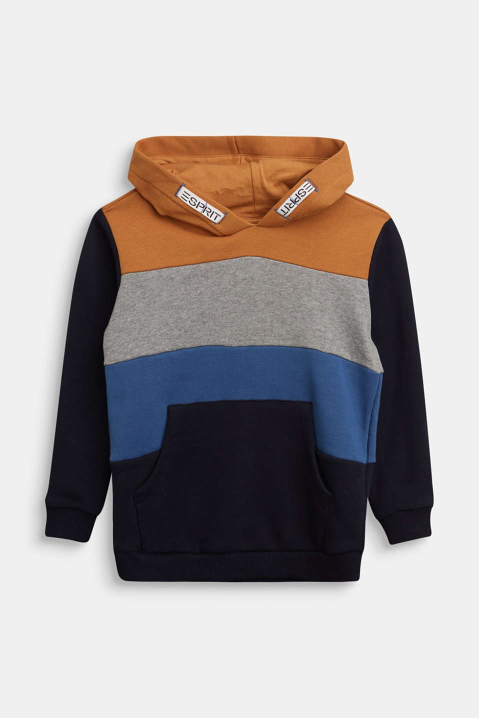 Esprit - Colour block hoodie in 100% cotton