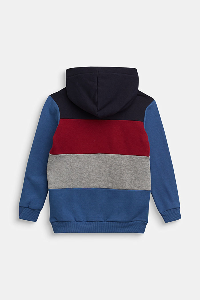 Colour block hoodie in 100% cotton