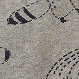 Sweatshirt jacket with a raccoon print, 100% cotton, DARK GREY, swatch
