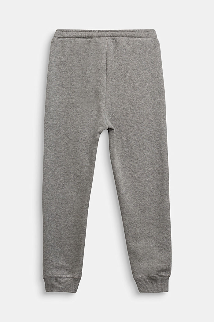 Tracksuit bottoms in 100% cotton, DARK GREY, detail image number 1