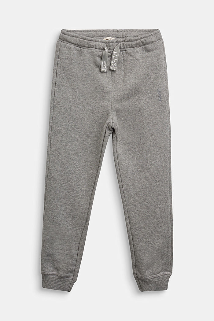 Tracksuit bottoms in 100% cotton, DARK GREY, detail image number 0
