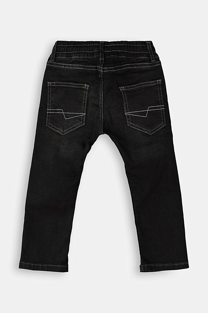 Schlupf-Jeans im Worker-Look, BLACK DARK WASHED, detail image number 1