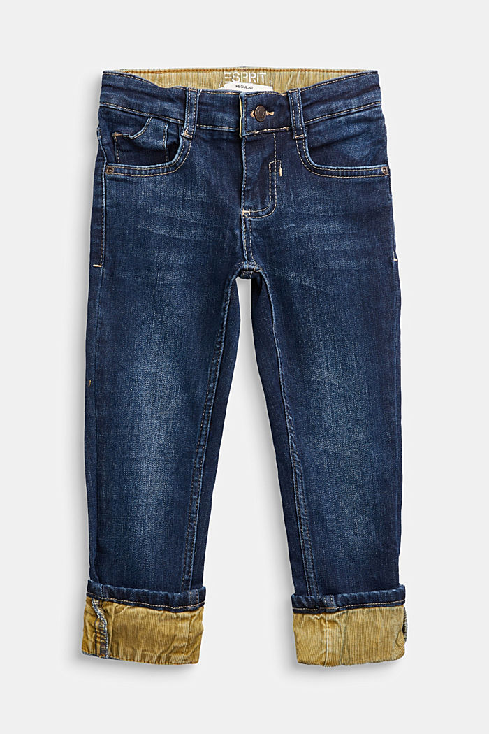 Cord detail jeans with an adjustable waistband