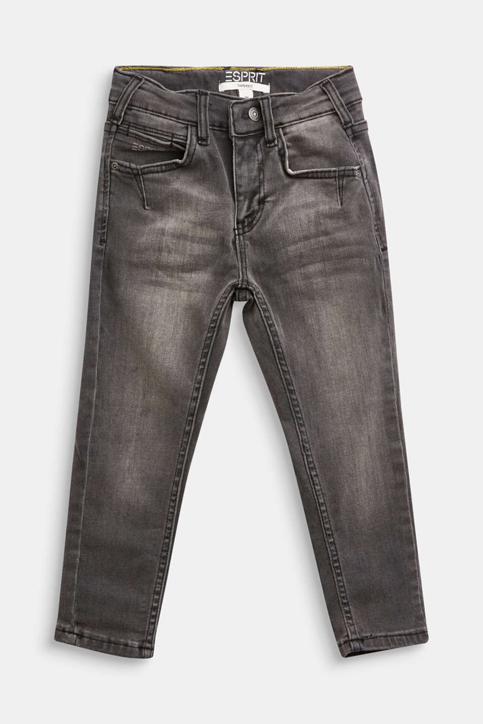 Esprit - Stretchjeans met used look en verstelbare band