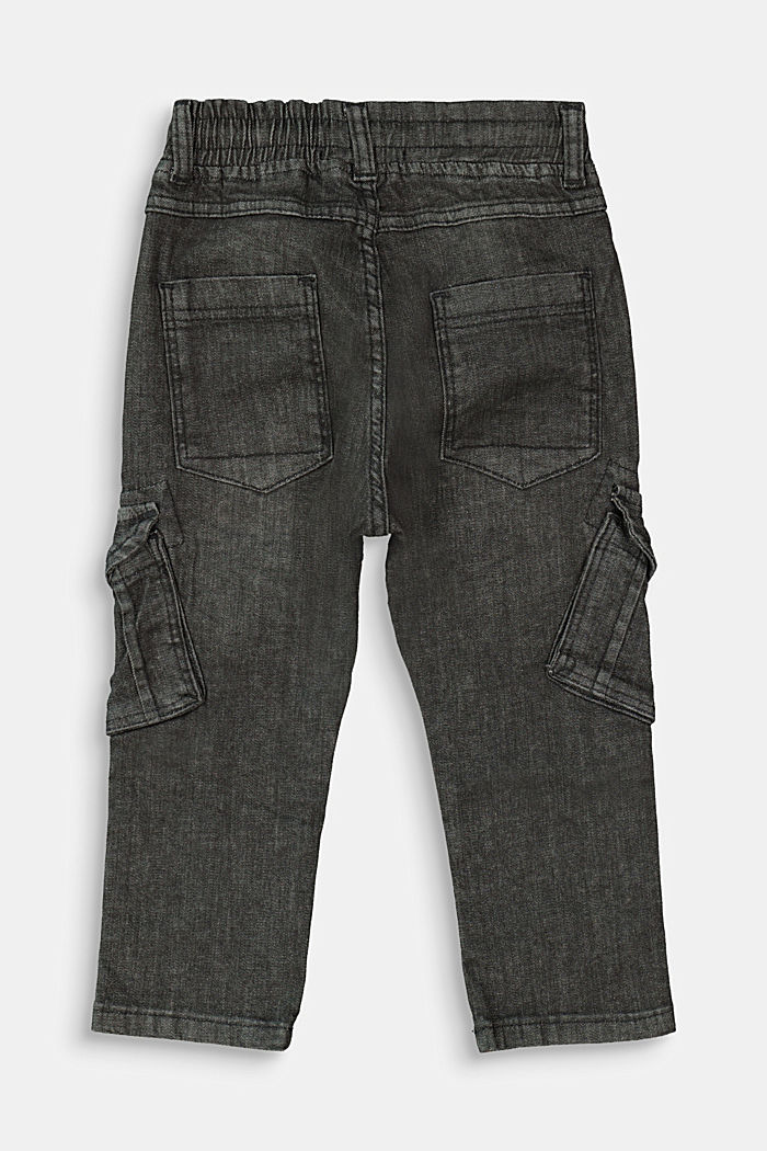 Slip-on jeans in a cargo style, BLACK MEDIUM WASHED, detail image number 1
