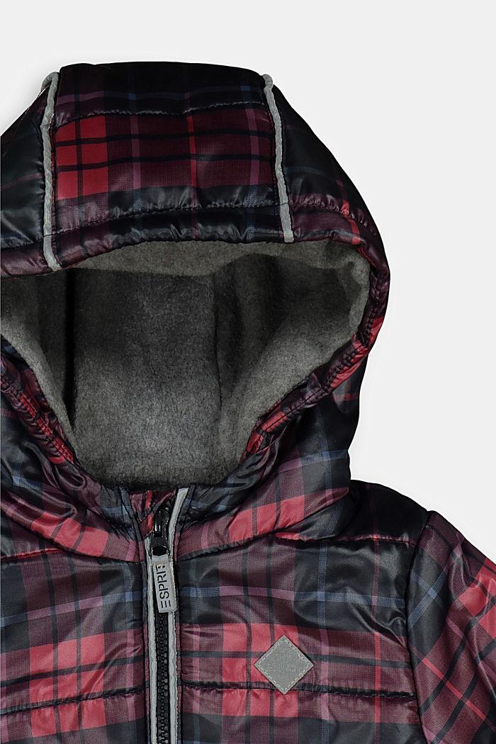 Károvaná prošívaná bunda s flísovou podšívkou, NAVY, detail image number 2