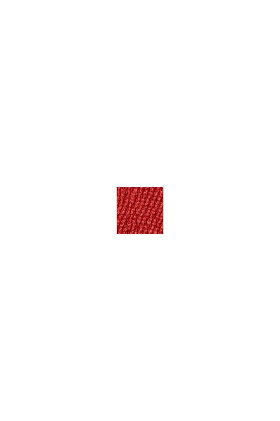 Gorro de punto en canalé, GARNET RED, swatch