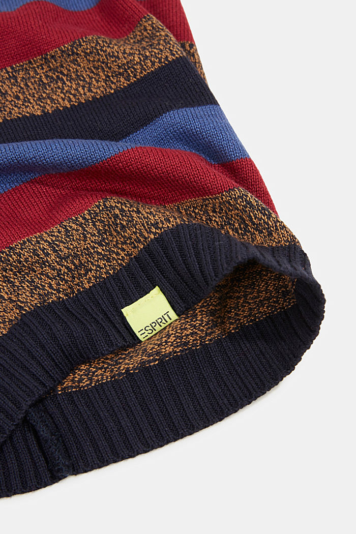 Blended cotton snood, NAVY, detail image number 1