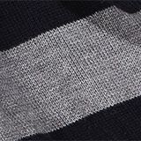 Striped knitted scarf, DARK GREY, swatch