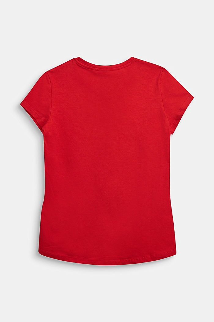 Logo T-shirt, 100% cotton, RED, detail image number 1