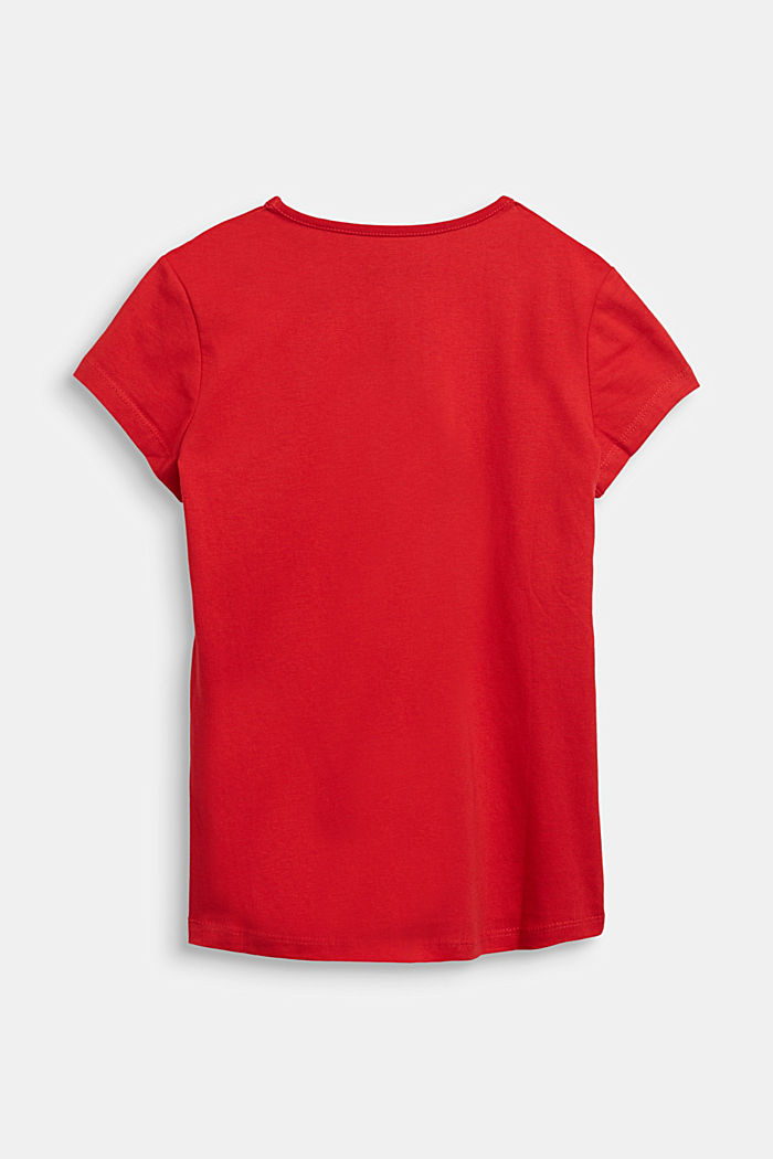 T-shirt with a shiny print, RED, detail image number 1