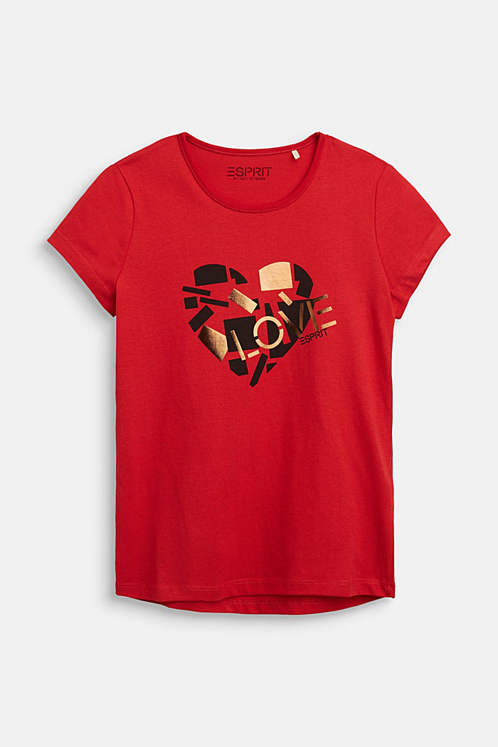 T-Shirt mit Glanz-Print, RED, detail image number 0