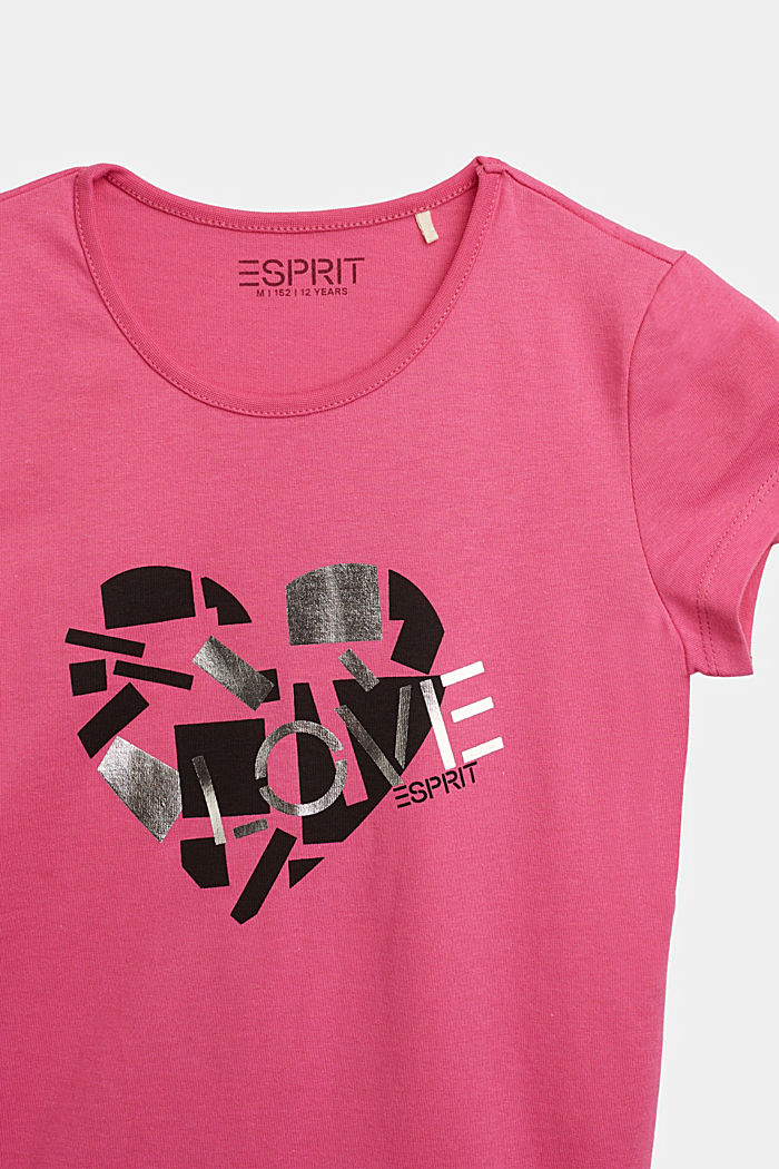 T-shirt with a shiny print, PINK, detail image number 2