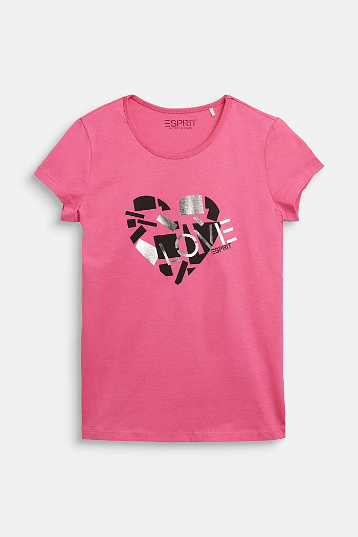 T-shirt with a shiny print, PINK, detail image number 0