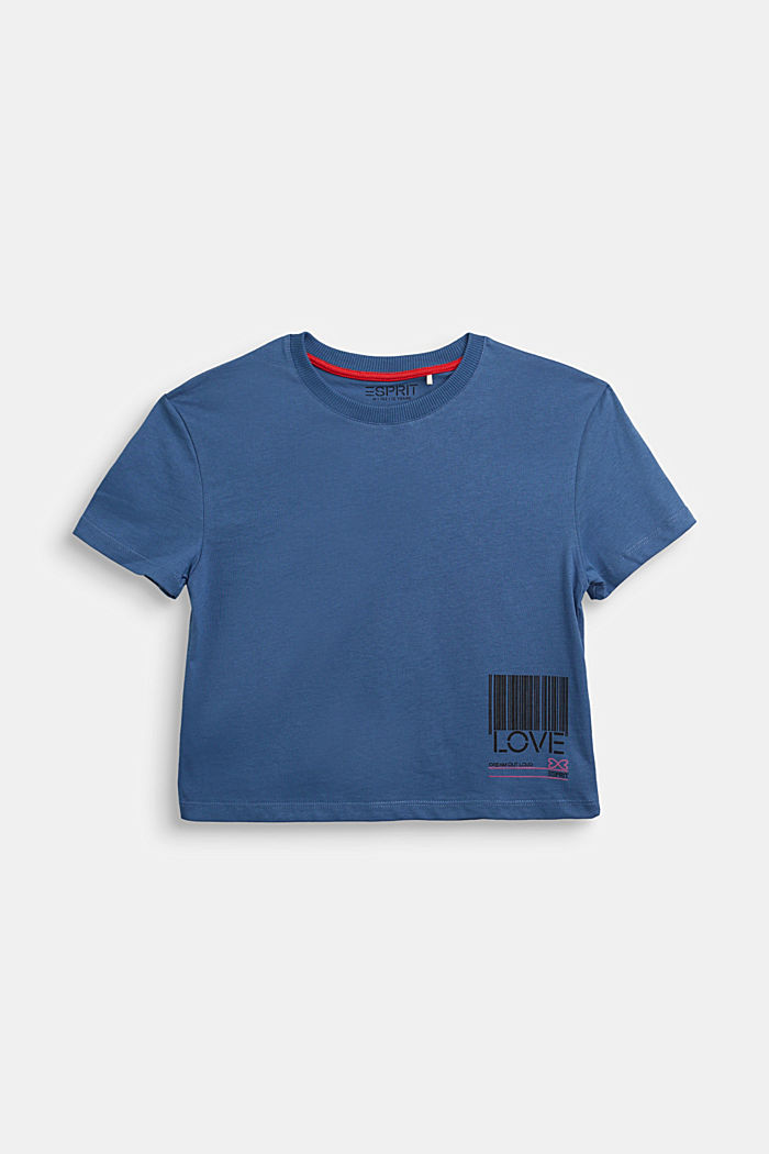 Jersey T-shirt in 100% cotton, BLUE, detail image number 0