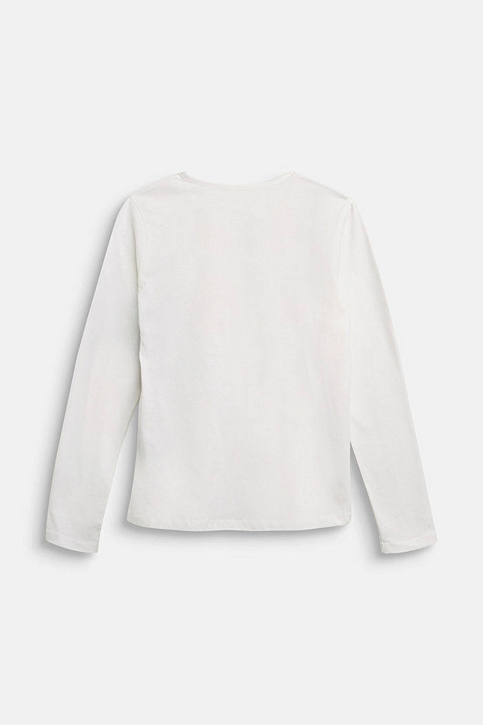 Long sleeve top made of 100% cotton, SKIN BEIGE, detail image number 1