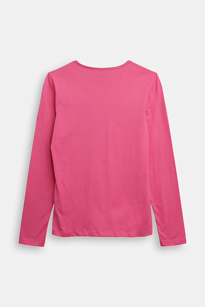 Long sleeve top made of 100% cotton, PINK, detail image number 1