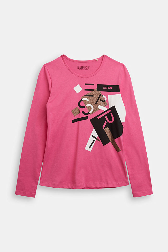 Long sleeve top made of 100% cotton, PINK, detail image number 0