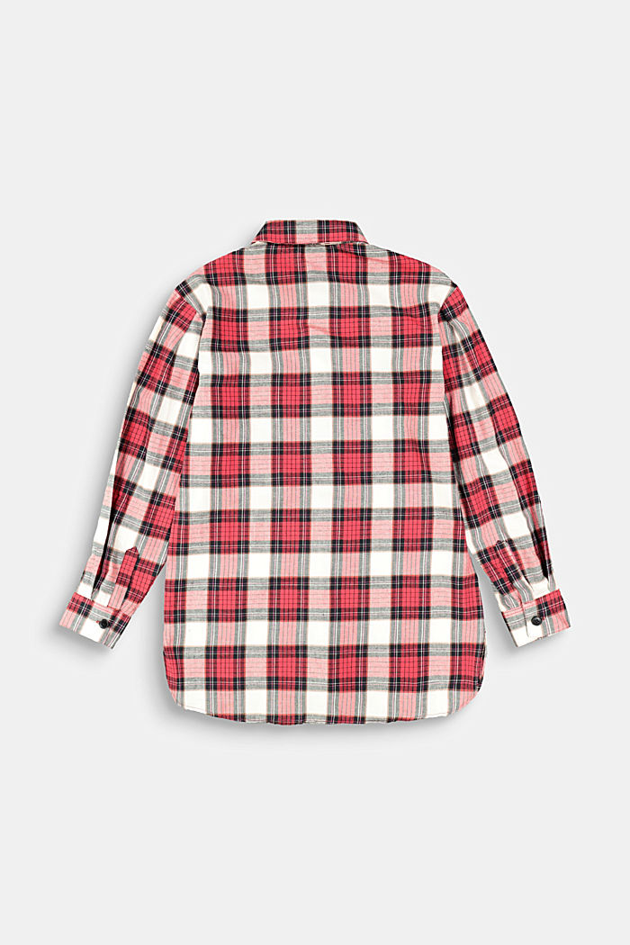 Check shirt in 100% cotton, RED, detail image number 1
