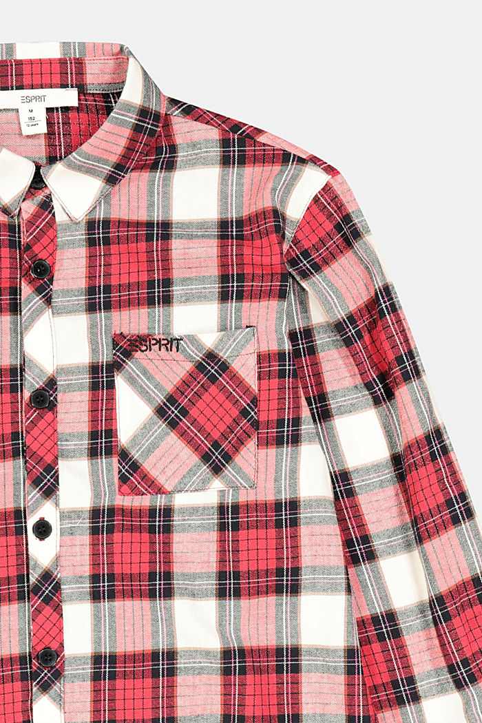 Check shirt in 100% cotton, RED, detail image number 2