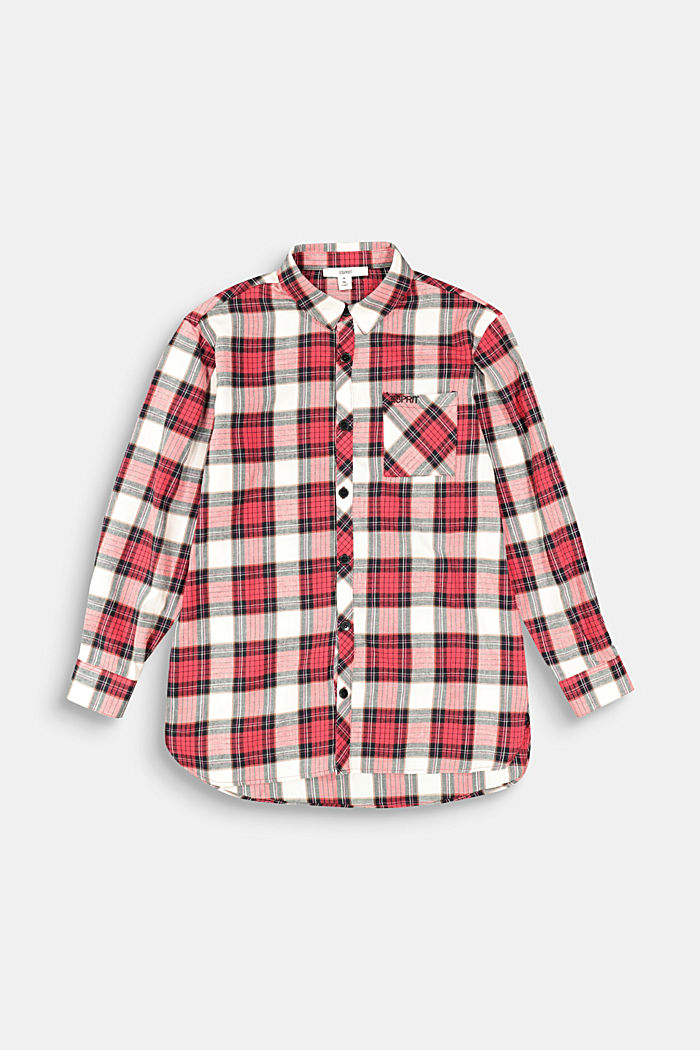 Check shirt in 100% cotton, RED, detail image number 0