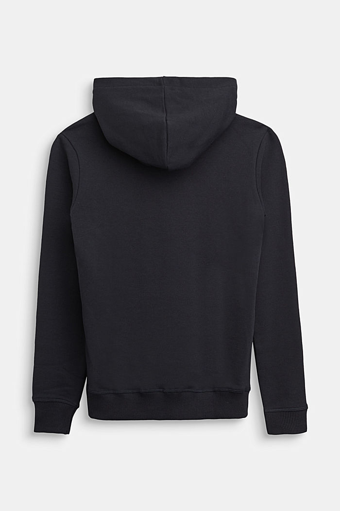 Hoodie in 100% cotton, BLACK, detail image number 1