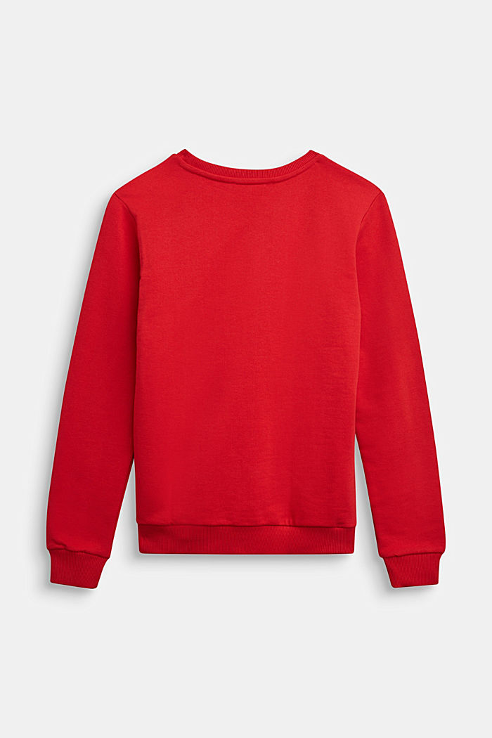 Sweatshirt aus 100% Baumwolle, RED, detail image number 1