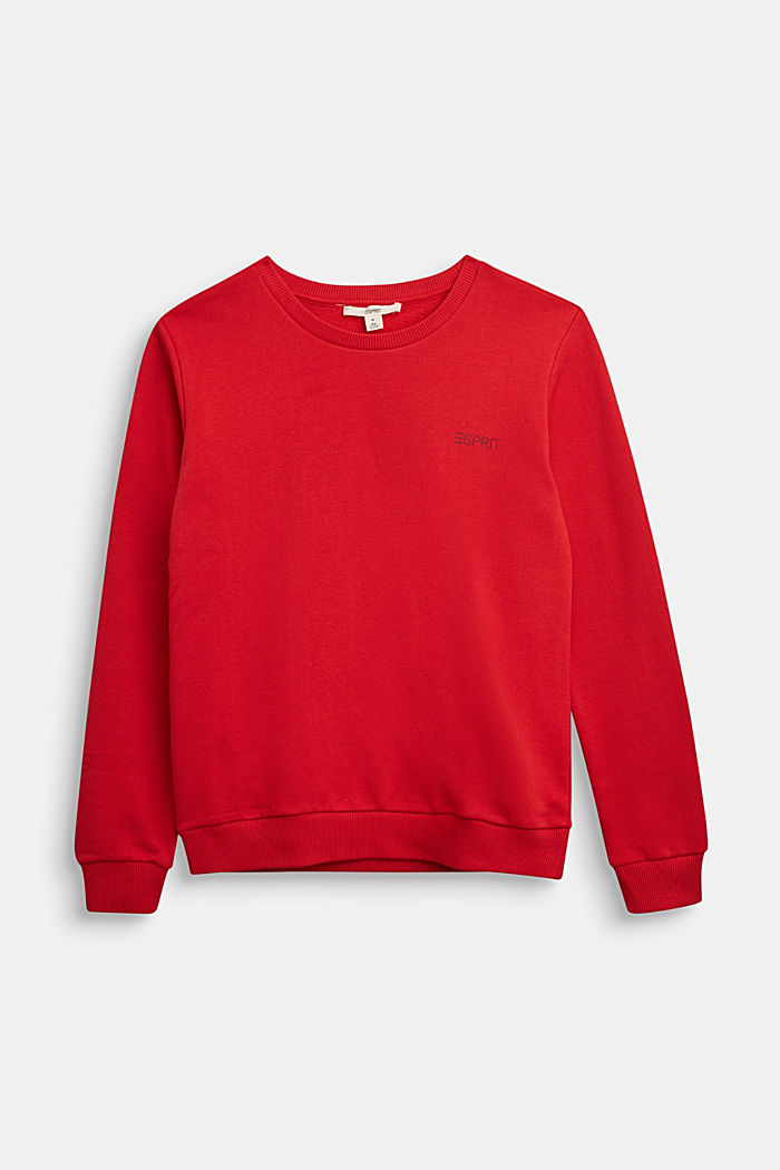 Sweatshirt aus 100% Baumwolle, RED, detail image number 0