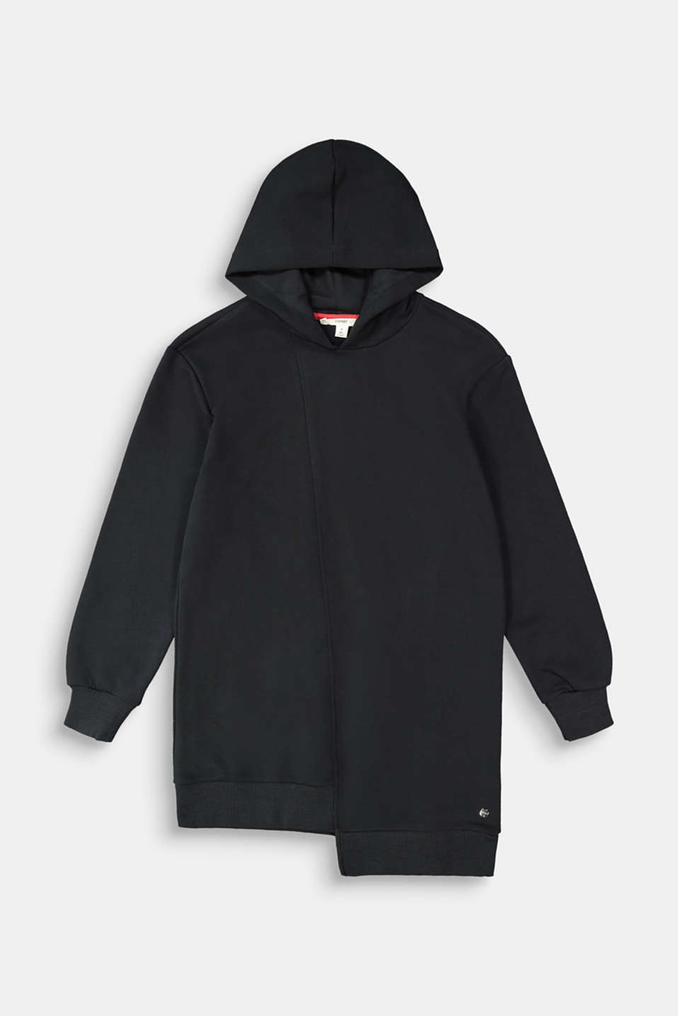 Esprit - Long hooded sweatshirt with appliqué detail