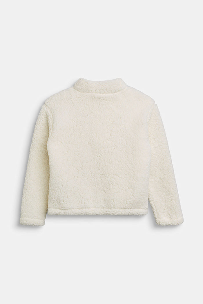 Teddy plush zip-neck jumper, SKIN BEIGE, detail image number 1