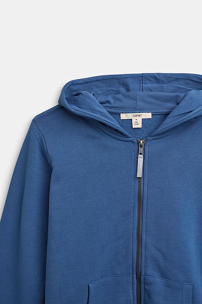 Kapuzen-Cardigan aus 100% Baumwolle, BLUE, detail image number 2
