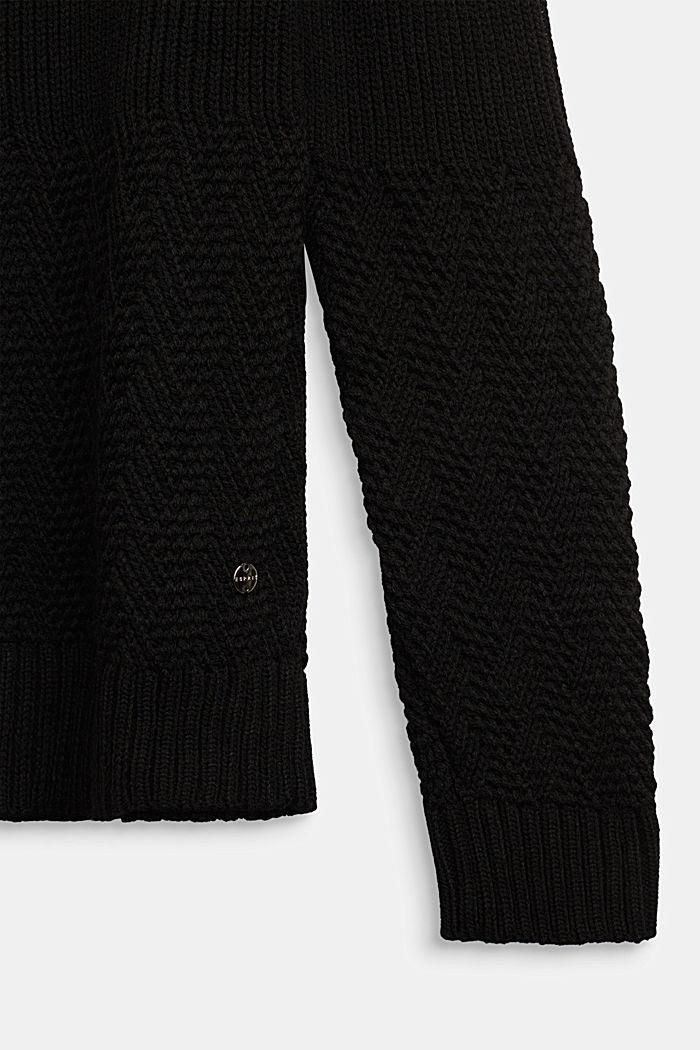 Pullover mit Struktur-Mix, BLACK, detail image number 2