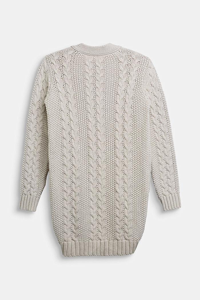 Strick-Cardigan aus 100% Baumwolle, SAND, detail image number 1