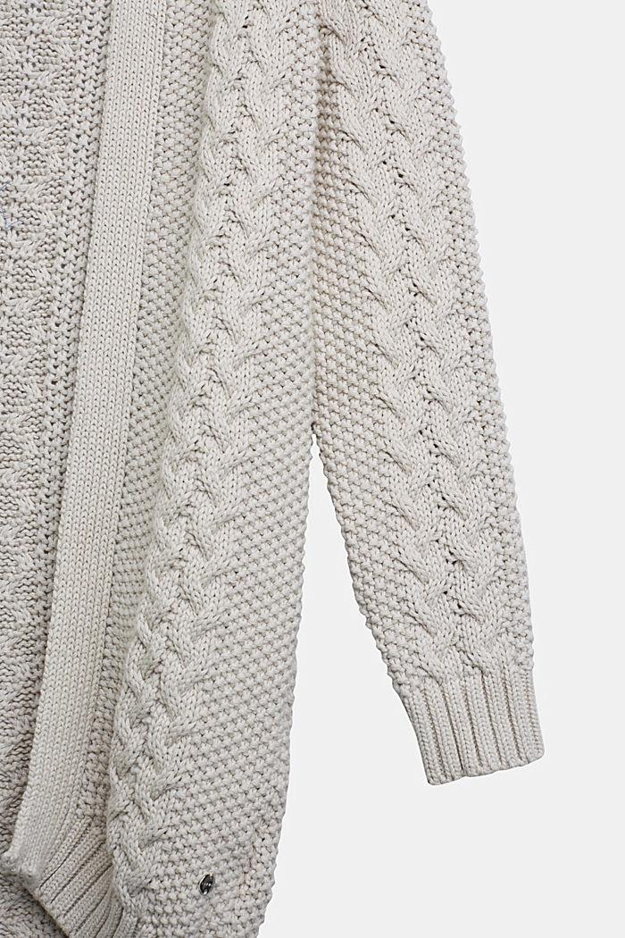 Strick-Cardigan aus 100% Baumwolle, SAND, detail image number 2