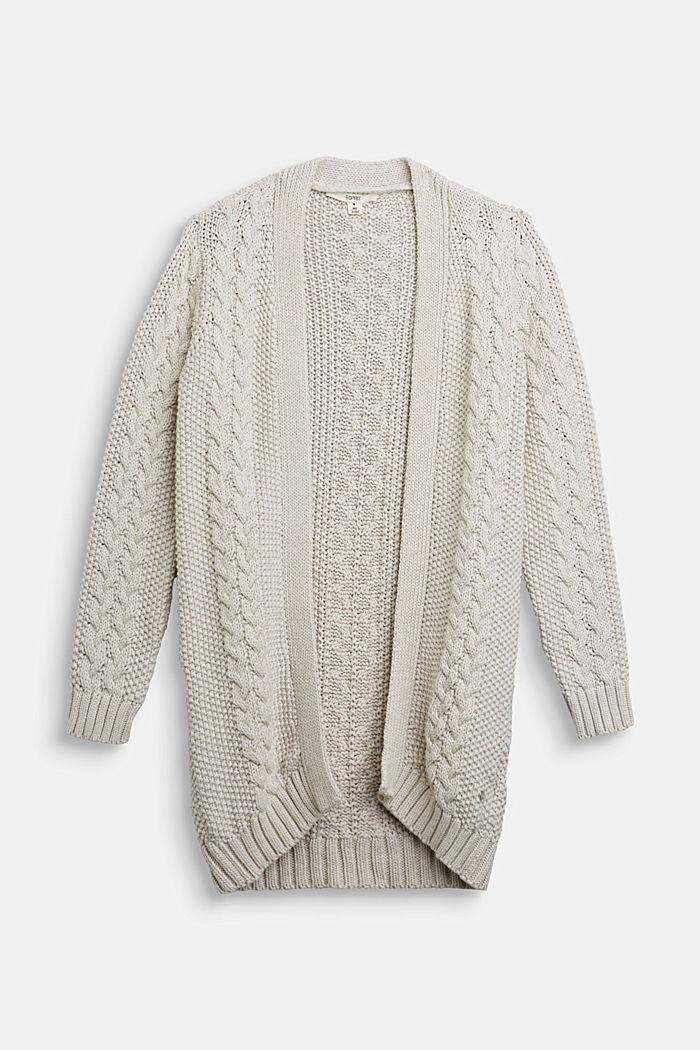 Strick-Cardigan aus 100% Baumwolle, SAND, detail image number 0