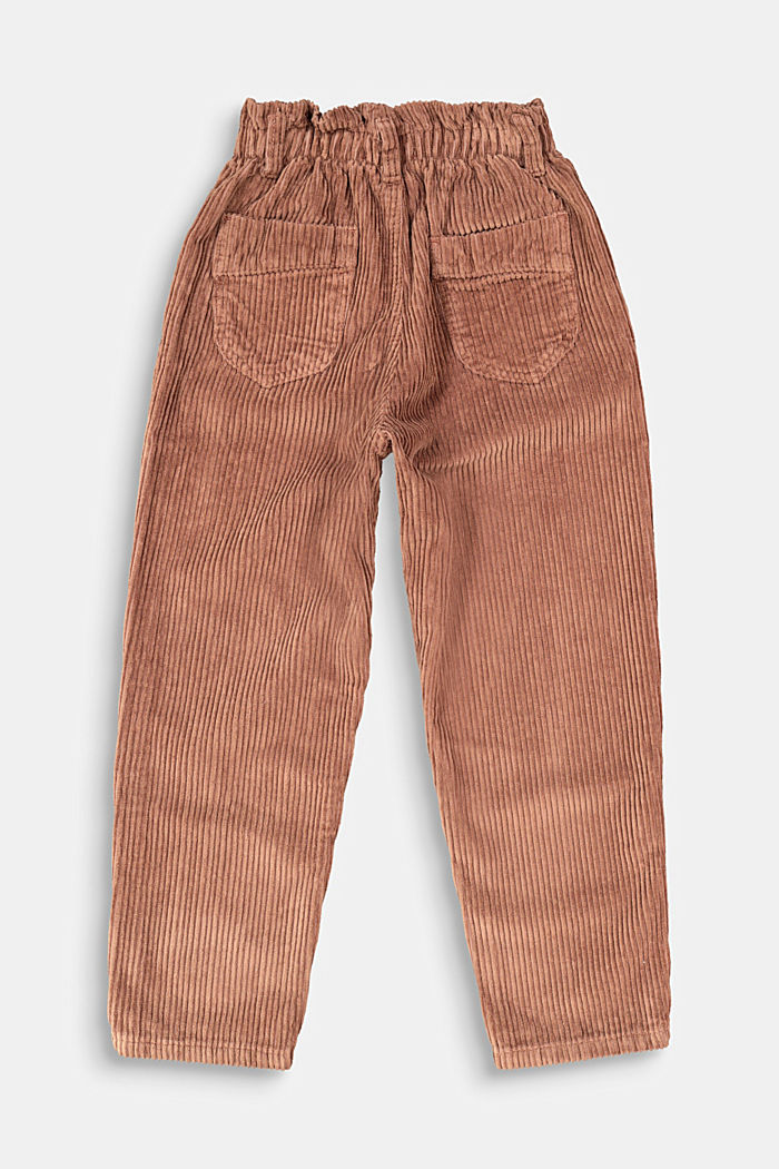 Corduroy trousers made of 100% cotton, DARK BROWN, detail image number 1