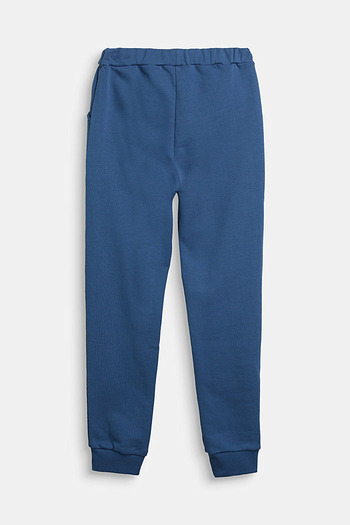 Tracksuit bottoms in 100% cotton, BLUE, detail image number 1