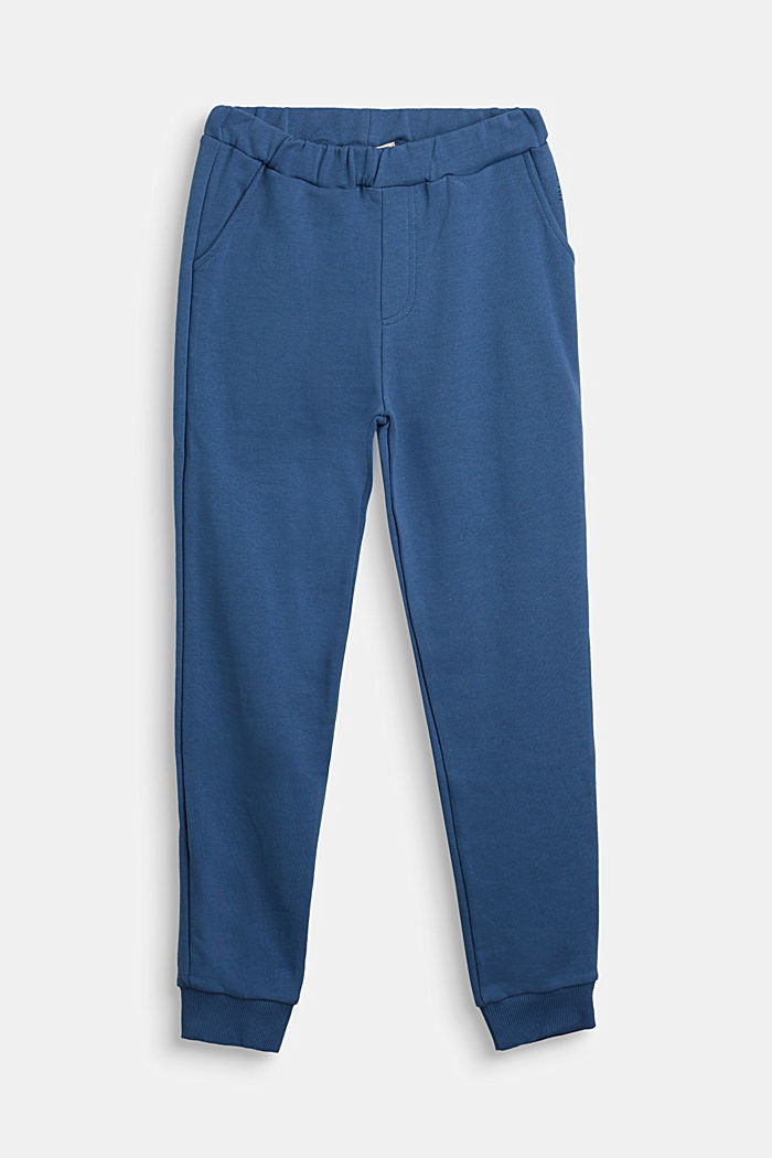 Tracksuit bottoms in 100% cotton, BLUE, detail image number 0