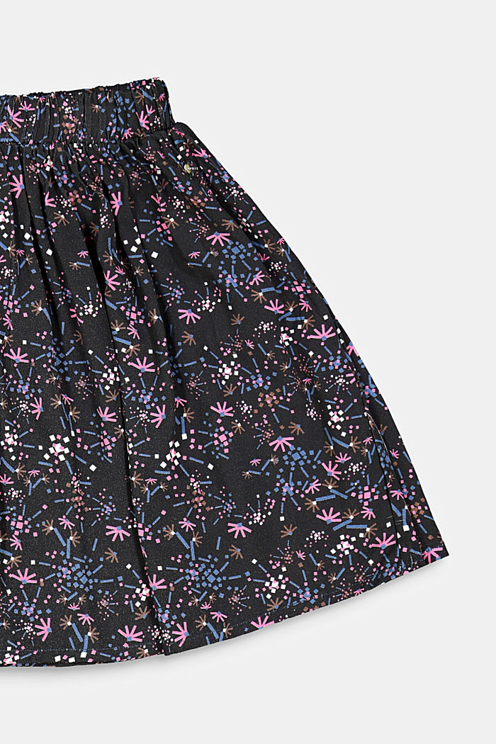 Printed skirt with an elasticated waistband, BLACK, detail image number 2