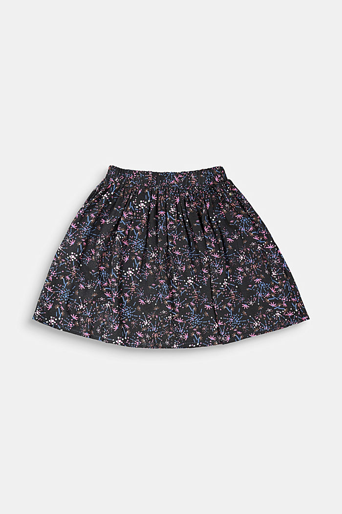 Printed skirt with an elasticated waistband
